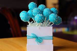 blue birthday cake pops