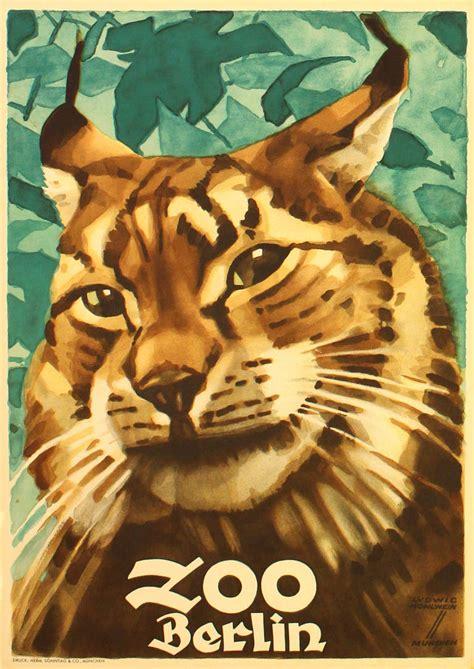 zoologischer garten berlin poster ludwig hohlwein original vintage 1930s poster for berlin