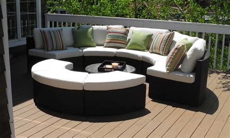 outdoor furniture circular couch round outdoor wicker sectional couch set contemporary deck