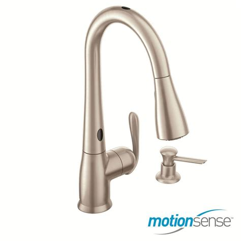 moen haysfield kitchen faucet moen 87350esrs haysfield pull kitchen faucet motionsense in stainless pppa avi depot much