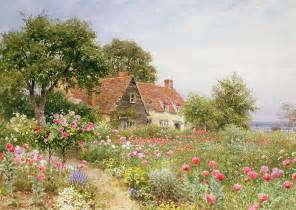 cottage garden paintings a cottage garden by henry sutton palmer