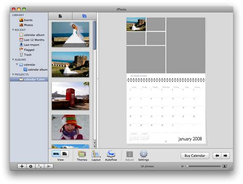 iphoto kalender layout anpassen how to create a custom calendar in iphoto 08 iclarified