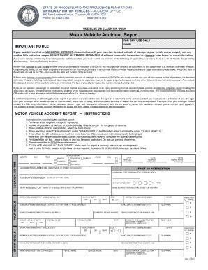 dmv motor vehicle report ri report fill printable fillable