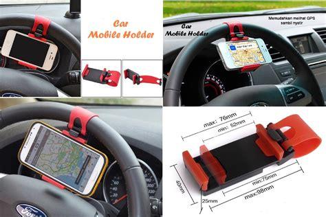 Car Phone Holder Phone Car Holder Penjepit Hp Gojek Grab jual car mobile holder holder hp yang dipasang di stir