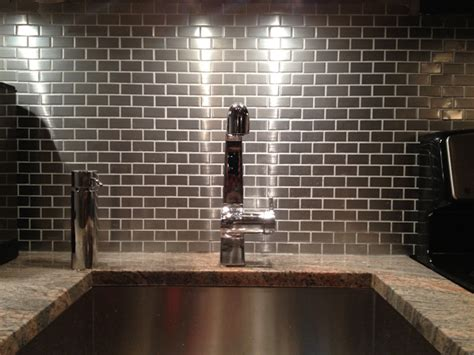 stainless steel kitchen backsplash tiles stainless steel backsplash subway tile outlet