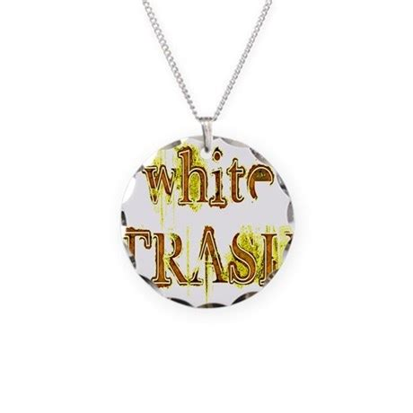 Favourite White Trash Charms As A Button by White Trash Necklace Circle Charm By Sinhavendesigns