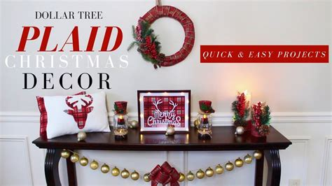dollar tree christmas tree decoration youtube diy plaid decorations dollar tree decorations