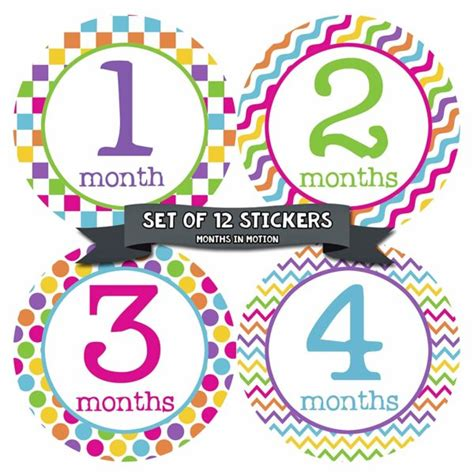 Monthly Age Stickers baby monthly age stickers only 4 99 lowest price