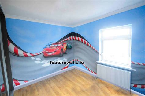 disney cars wall mural wall mural painting professionals featurewalls ie featurewalls leading the field with murals
