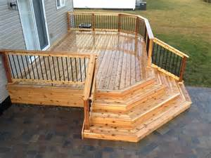 wrap around deck plans 25 best ideas about small backyard decks on