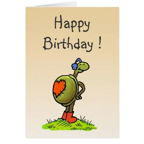Turtle Birthday Card Turtle Birthday Card Zazzle
