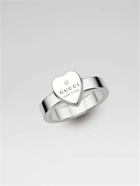 gucci sterling silver ring in silver lyst