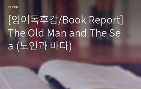 and the sea book report 영어독후감 book report the and the sea 노인과 바다 리포트