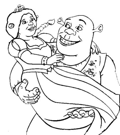 Sta Disegno Di Shrek E Fiona Da Colorare Princess Fiona Coloring Pages Free Coloring Sheets