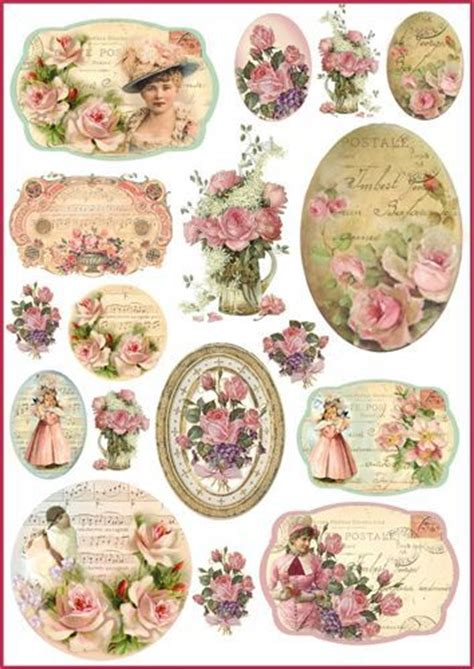 Decoupage Prints - 7037 best images about free vintage printables and some