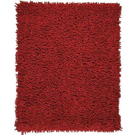 Anji Mountain Crimson Red 8 Ft X 10 Ft Silky Shag Area 8 Shag Rug