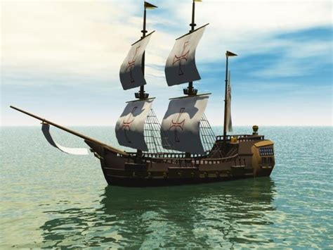pirate boat historic galleon battle sailboat 3ds 3d - Pirate Boat