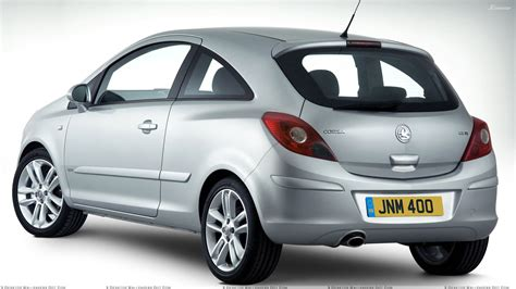 vauxhall silver vauxhall corsa back pose in silver wallpaper