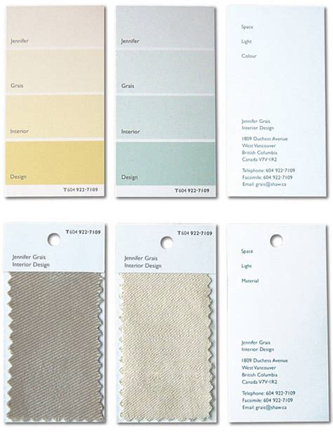 Home Interior Paint Schemes Clever Paint Chip And Fabric Sample Business Cards For An