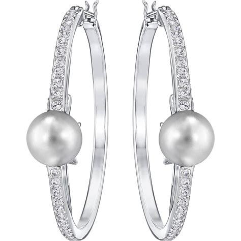 swarovski pierced earrings p 587 swarovski fantastic hoop pierced earrings