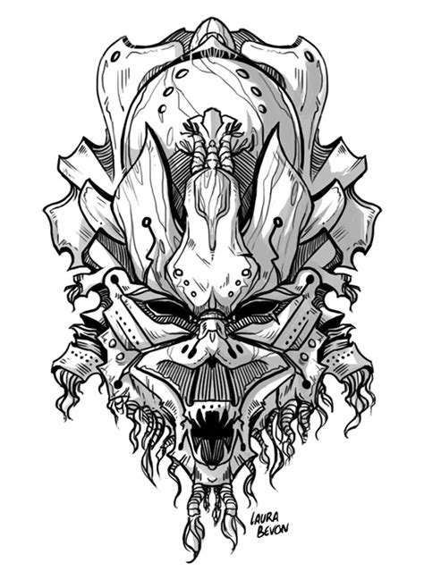 tribal mask by laurabevon on deviantart