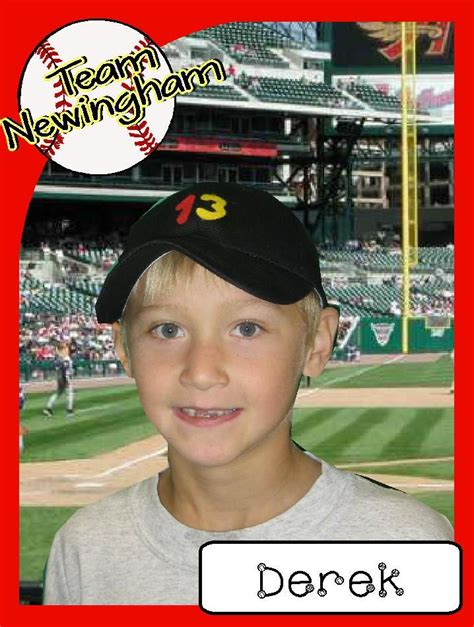 make a baseball card this website has many more sports theme ideas and the file
