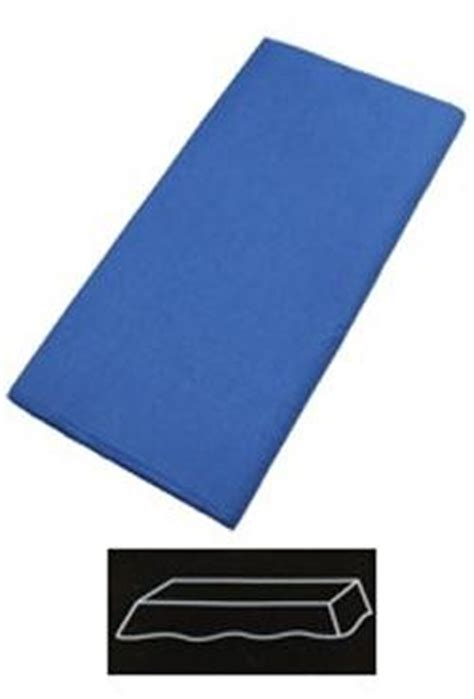 Tableware S86 54in x 108in blue plastic lined paper tablecovers