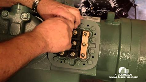 how to wire a carrier 06e 208 230 volt 3 phase compressor