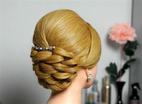 Bridal prom updo hairstyle for long hair.   YouTube