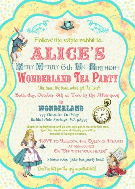 17 best images about z birthday party alice in wonderland