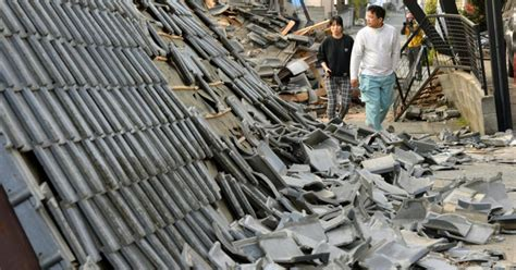 japan today powerful earthquake in japan leaves 9 dead hundreds injured