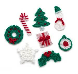 free crochet pattern l32338 holiday motifs lion brand