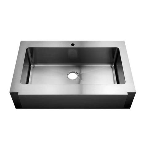 Julien Kitchen Sinks Julien Classic 0100 Farmhouse 16 Stainless Steel Single Bowl Kitchen Sink 36 X18 Quot X10