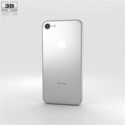 3 iphone models apple iphone 7 silver 3d model hum3d