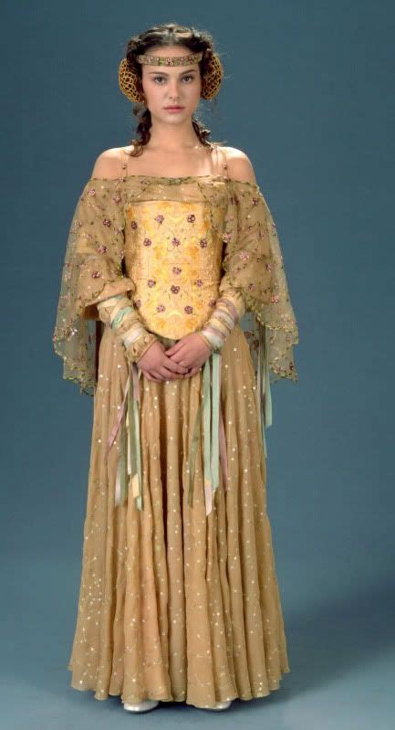 dress pattern designing by natalie padme s gown worn by natalie portman in star wars episode