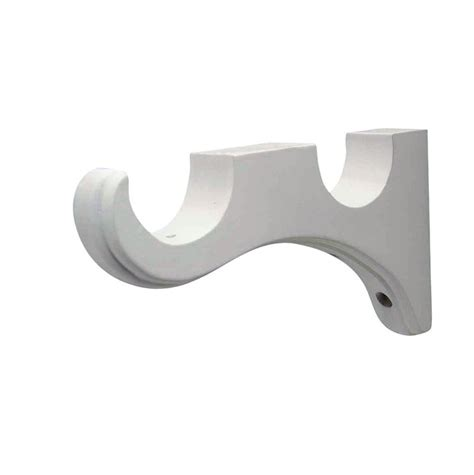 white curtain brackets white curtain rod brackets home design ideas