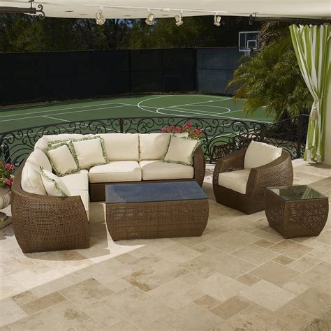 l shaped outdoor sofa 25 awesome modern brown all weather outdoor patio sectionals