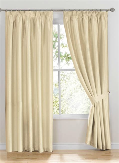 what are curtains made of ready made curtains como ivory white faux silk curtains