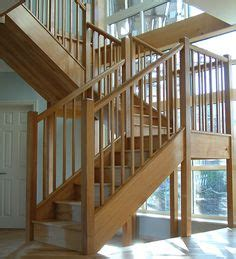 Free Standing Stairs Design White Oak Banister Stair Parts In Oak Loft Stairs Wall Handrails Modern Stairparts