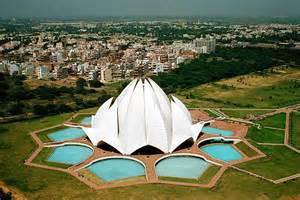 Top View Of Lotus Temple Lotus Temple New Delhi Bahai House Of Worship