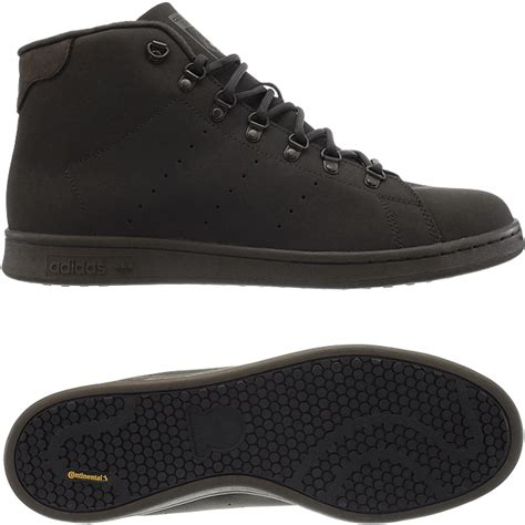 Casual Adidas Smith Brown adidas stan smith winter s mid top sneakers black or