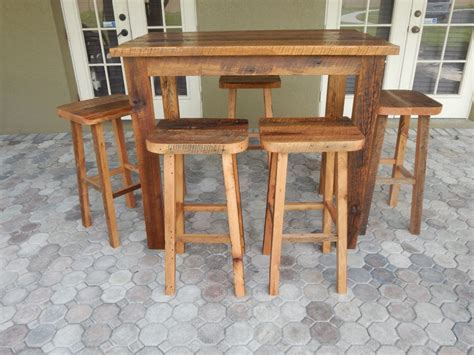 Dining Table With Matching Bar Stools by Carla S Reclaimed Lumber Bar Height Table And Matching
