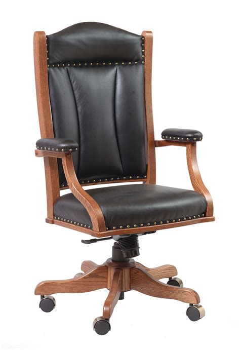 Office Desk With Chair Office Furniture Executive Desk Chair Frontier Furniture Amish Furniture Store