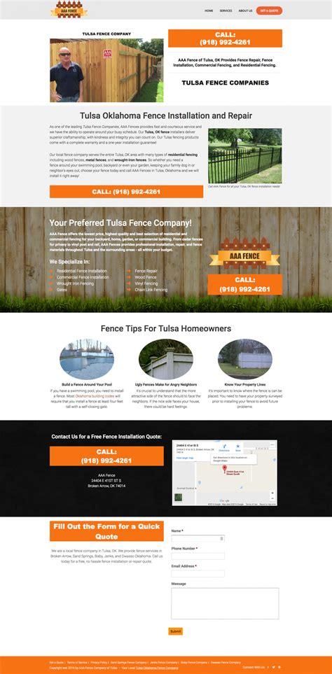 web layout engine fence company website design search engine optimization