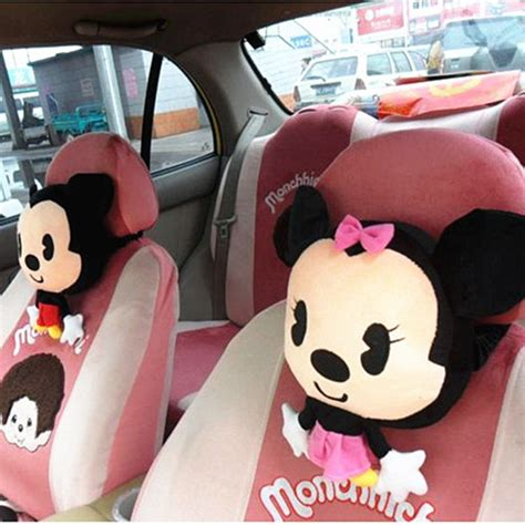 Headrest Kepala Minnie Mouse 1 auto accessories of mickey mouse car headrest bolster neck support birthday