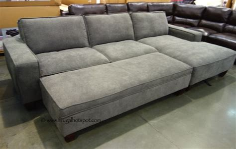 costco sofas in store costco chaise sofa with storage ottoman 849 99 frugal