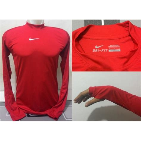 Baselayer Adidas Stabilo Panjang baselayer lengan panjang warna navy dongker merah biru