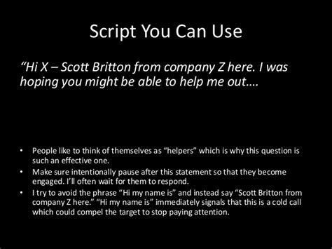 cold call script template what not to do when cold calling