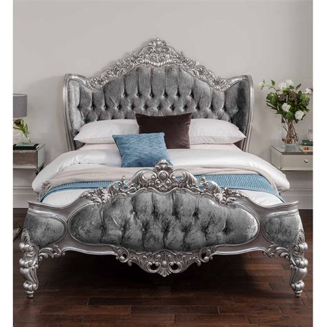 french silver bedroom furniture antique french style bed shabby chic bedroom furniture