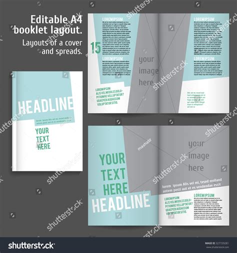 a4 book layout design a4 book layout design template with cover and 2 spreads of
